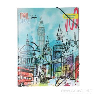 Slika Fascikla ''London'' A4, sa 3 klapne i gumom
