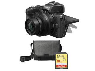 Slika NIKON digitalni fotoaparat Z50 + Objektiv Nikkor Z DX 16-50mm VR + SD kartica 16GB + Torba