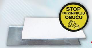 Slika HIG Dezobarijera 1190x565x20mm, pocinčani lim, spužvasta podloga i naljepnica - AKCIJA